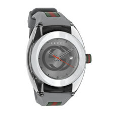 Gucci Sync XXL Gray Swiss Rubber Strap Quartz Watch YA137109