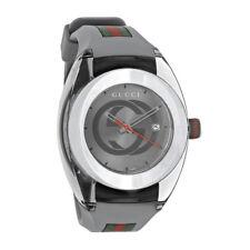 Gucci Sync XXL Gray Swiss Rubber Strap Quartz Watch YA137109
