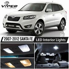 White LED Interior Lights Package Kit for 2007-2012 Hyundai Santa Fe