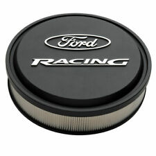 "Proform 302-380 Cast Aluminum Ford Racing Black Air Cleaner Kit - 13"" Diameter"