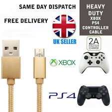 PS4 Gold Charging Cable for Dualshock 4 controllers Micro USB Charger lead
