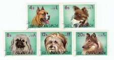 Oman    Dog Stamps - State of Oman - 5 CTO USED STAMPS