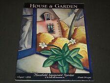 1928 AUGUST THE HOUSE & GARDEN MAGAZINE - GREAT PHOTOS & ADS - ST 467