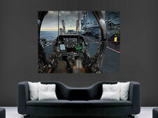 FIGHTER JET COCKPIT POSTER AEROPLANE AIRCRAFT CARRIER  LARGE PICTURE  GIANT