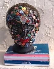 Outsider Art Folk Junk Art Memory Head Known Artist Mail Box Mounted