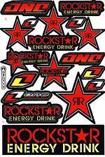 Red Rockstar Energy Motocross Vinyl Graphic Kits Decal Bike BMX Car Sticker R7