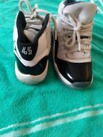 Jordan 11 Concord 2018 Retro Boys Size 4y Lightly Used NoBox Black White Youth