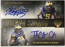 2017 Majestic Jabrill Peppers & Taco Charlton Dual Auto Gold /49