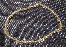 Very simple and no less prettyt clear beaded elasticated bracelet.