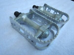 SR Tioga Surefoot III Vintage Mountain BMX Bike Pedals Silver Old School Japan