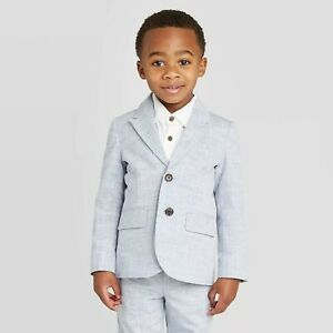 Boys' Chambray Blazer Jacket - Cat  Jack Blue 6 NWT