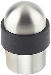Floor Mounted Dome Door Stop Satin Stainless Steel Concealed Fixings