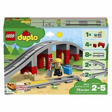 Lego Duplo Town Train Bridge & Tracks 26 Pieces