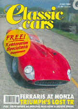 CLASSIC CARS MAGAZINE JUNE 1990 FERRARI TRIUMPH MORRIS MG MERCEDES RESTORATION