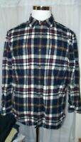 MEN'S CARHARTT STRIPED BUTTON FRONT LONG SLEEVED BUTTON SHIRT L LARGE THICK