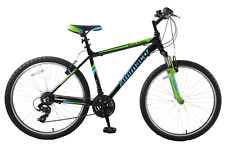 "Ammaco Black Mamba 26"" Mens Front Suspension Bike 21 Speed Alloy Black 19"" Frame"