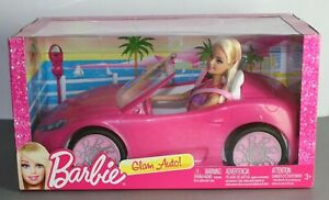 Barbie - Pink Glam Auto Convertible Sports Car (Doll Included) *Brand New*