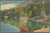 Lake George New York Paradise Bay Black Mountain Deer in Snow Lot Two Postcards
