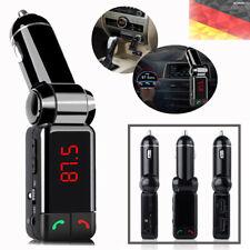 Bluetooth Auto Ladegerät MP3-Player FM Transmitter LED AUX IN Musik Auto KFZ DE