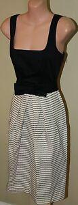 Womens Black and Cream Dress with Matching Jacket - Coast - Size 10