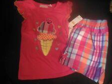 Kids Headquarters Girl's 6X Top & Shorts Set, NWT, Ice Cream Themed