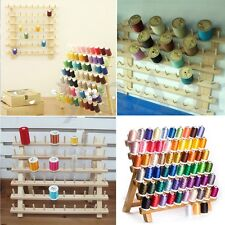 Sewing Thread Rack Organizer 60 Spools Holder Wooden Storage Accessories 40*32cm