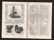Lithografie 1928: Metallbearbeitung. umformende Metallbearbeitung Adjustagemasch