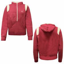 Nike Active Womens Half Zip Hooded Pullover Pink Track Jacket 202193 614 A58B