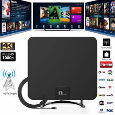 1byone HDTV Indoor Antenna Aerial With Stand HD Digital TV Signal Antenna FM UK