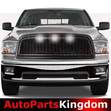 09-12 Dodge RAM 1500 Raptor Style Matte Black Mesh Grille+Shell+White LED light