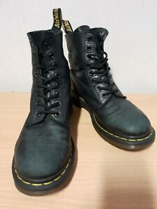 Dr. Martens Womens Ladies Black Leather Lace Up Boots Shoes Size 5 UK