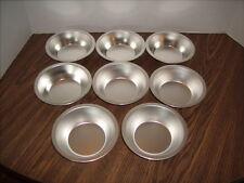 "Lot of 8 Fox Run Metal Individual Miniature Pie Pans 4 1/2"" x 1 1/2"" NEW"