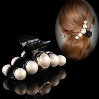 Women's Pearl Crystal Hair Clips Hairpin Claws Clamp Hair Grips Accessories