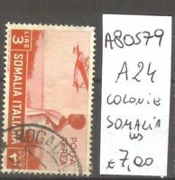 FRANCOBOLLI COLONIE SOMALIA USATI N. A24 (A80579)