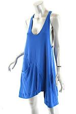SYMPLI Royal Blue Polyester Spandex Blend Asymmetric Tank with Pocket  Sz 12