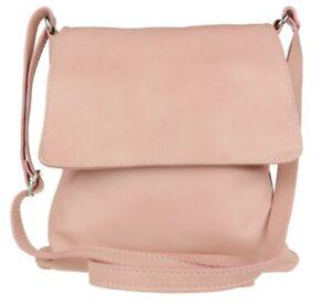 New Genuine Soft Leather Italian Vera Pelle Cross Body Shoulder Bag Zipped