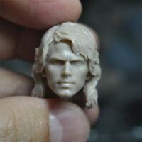 """Hot 1/12 Scale Star War Anakin Skywalker Head Sculpt Unpainted Fit 6"""" SHF Figure"""