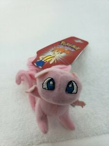 Pokemon Plush Mew Hair Tie Scrunchee soft stuffed doll stuffed vintage 1998