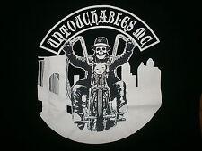 UNTOUCHABLES UMC MOTORCYCLE CLUB T SHIRT Biker Cop New Jersey Skull Skeleton LG