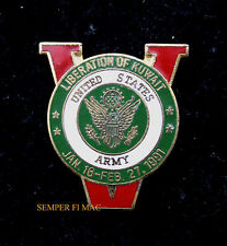 DESERT SHIELD STORM VICTORY 1990-1991 HAT LAPEL PIN UP US ARMY IRAQ USA GULF WAR