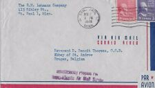 1948 AirmaIl Cover from St. Paul, MN to Bruges, Belgium (Insufficient Postage)