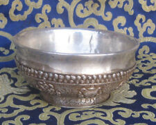 Antique Master Quality Handmade 92.5% Silver Tibetan Tea Cup, Nepal