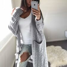 Women's Knitted Sweater Long Sleeve Cardigan Knitwear Jumper Outwear Coat Jacket
