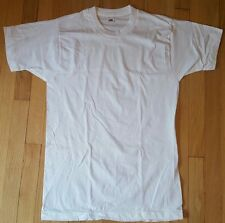 NOS 80s Vintage FRUIT OF THE LOOM blank shirt L white soft paper thin mens FOTL