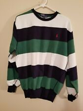 1980s vintage POLO by RALPH LAUREN SWEATSHIRT Striped HONG KONG SMALL