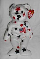 Ty Beanie Baby Babie - GLORY Patriotic Bear Retired OOP RARE NWT NWMT