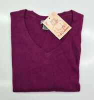 PULL TAILLE M SWEATER FEMME DONNA 100% PUR CASHMERE CACHEMIRE PREMISE VIOLET