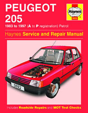 0932 Haynes Peugeot 205 Benzina (83 - 97) un Manuale di Officina per P