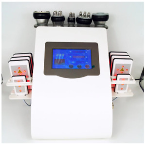 6 in 1 Vacuum Laser Frequency RF 40K Cavitation Liposuction Slimming Ultrasonic