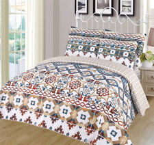 6-piece Super Soft Queen Size Pinsonic Quilted Reversible Bedspread Set - Sasha